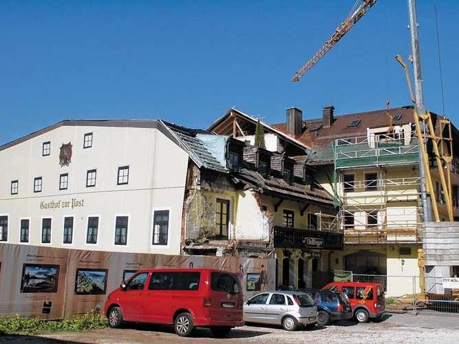Hotel Post Inzell Wieder Aufgebaut