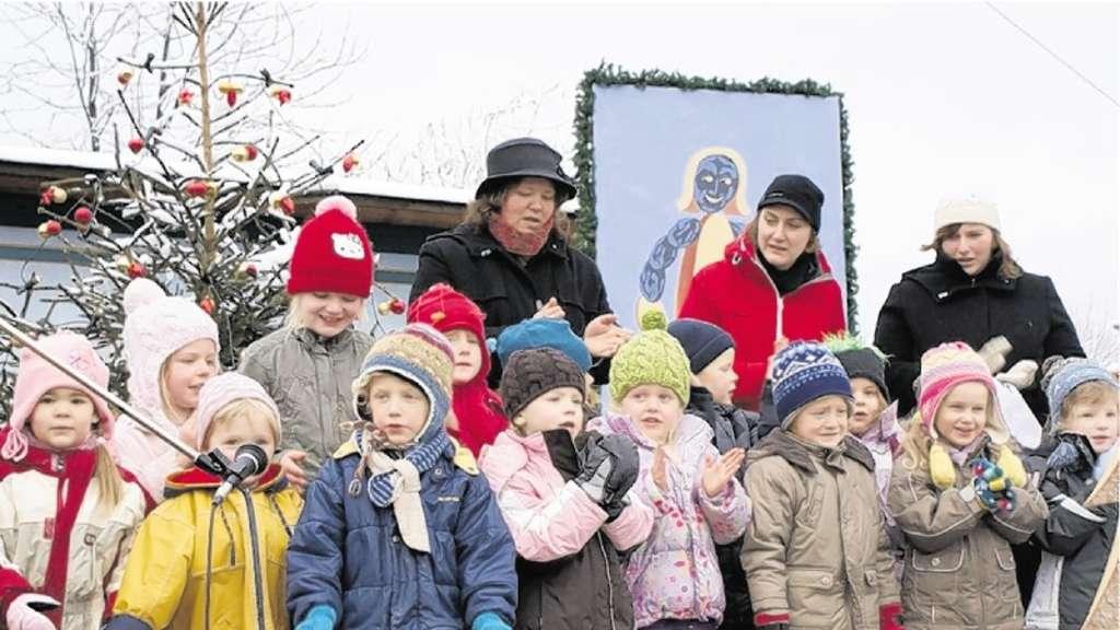 Schnee sorgte für richtige Stimmung   Chiemgau