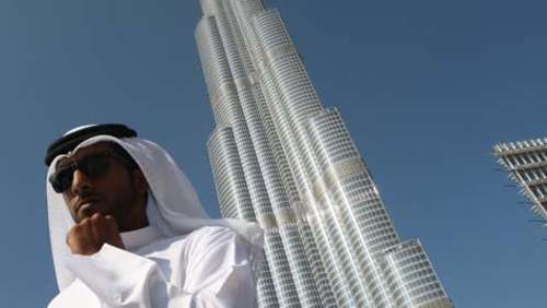 """Mission Impossible 4"" auf Burj Khalifa in Dubai"