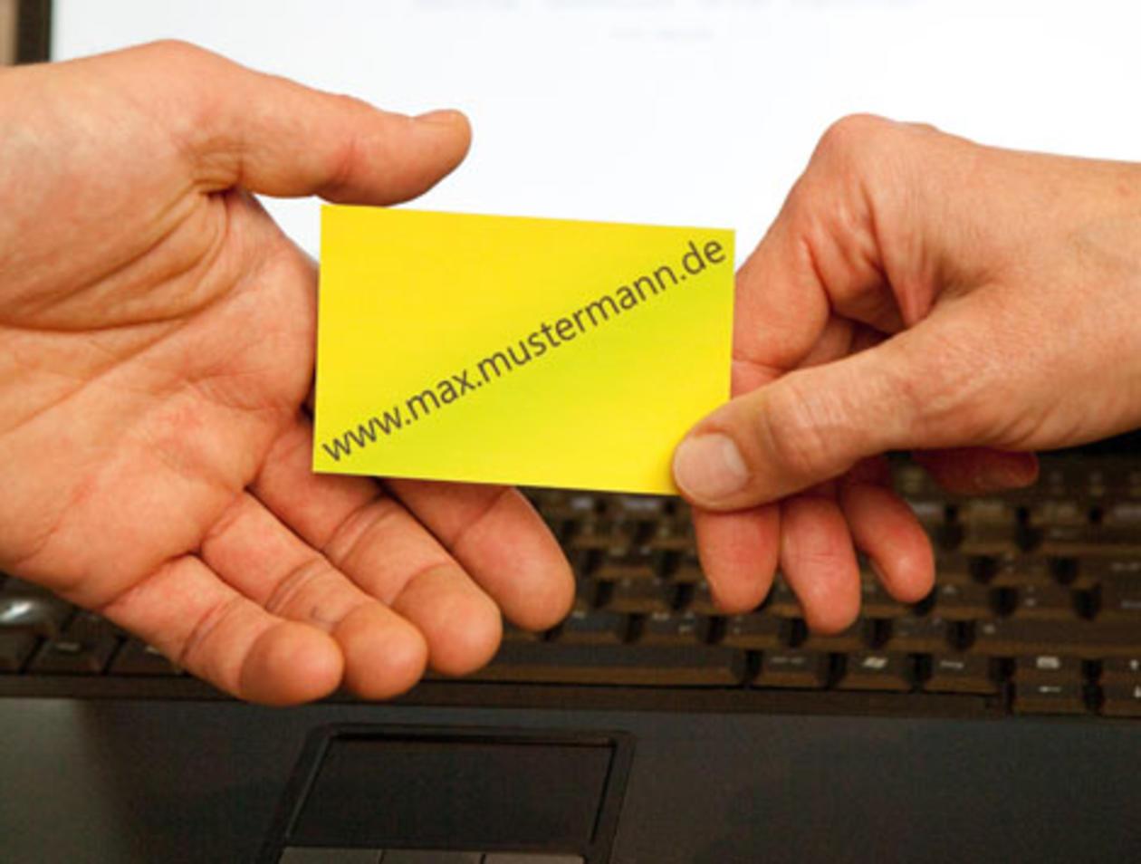 Visitenkarte Lässt Auf Professionalität Schließen Oder
