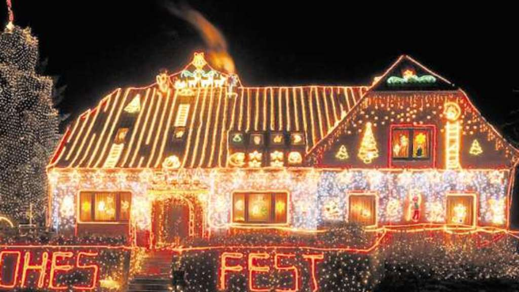 Kitschige Weihnachtsbeleuchtung.Kitschige Weihnachtsbeleuchtung Italiaansinschoonhoven