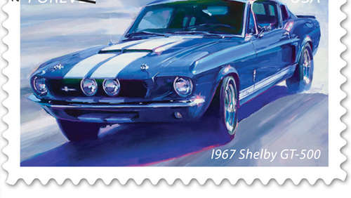 Die coolsten Muscle Cars als Briefmarken