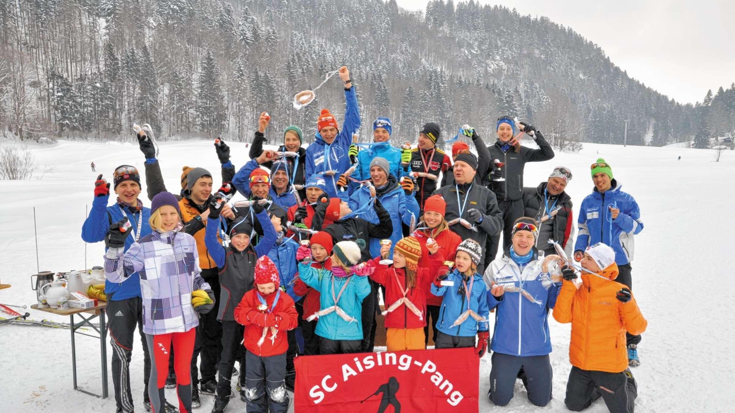 Skiclub Aising Pang Ermittelte Vereinsmeisterschafts Team Rosenheim Stadt
