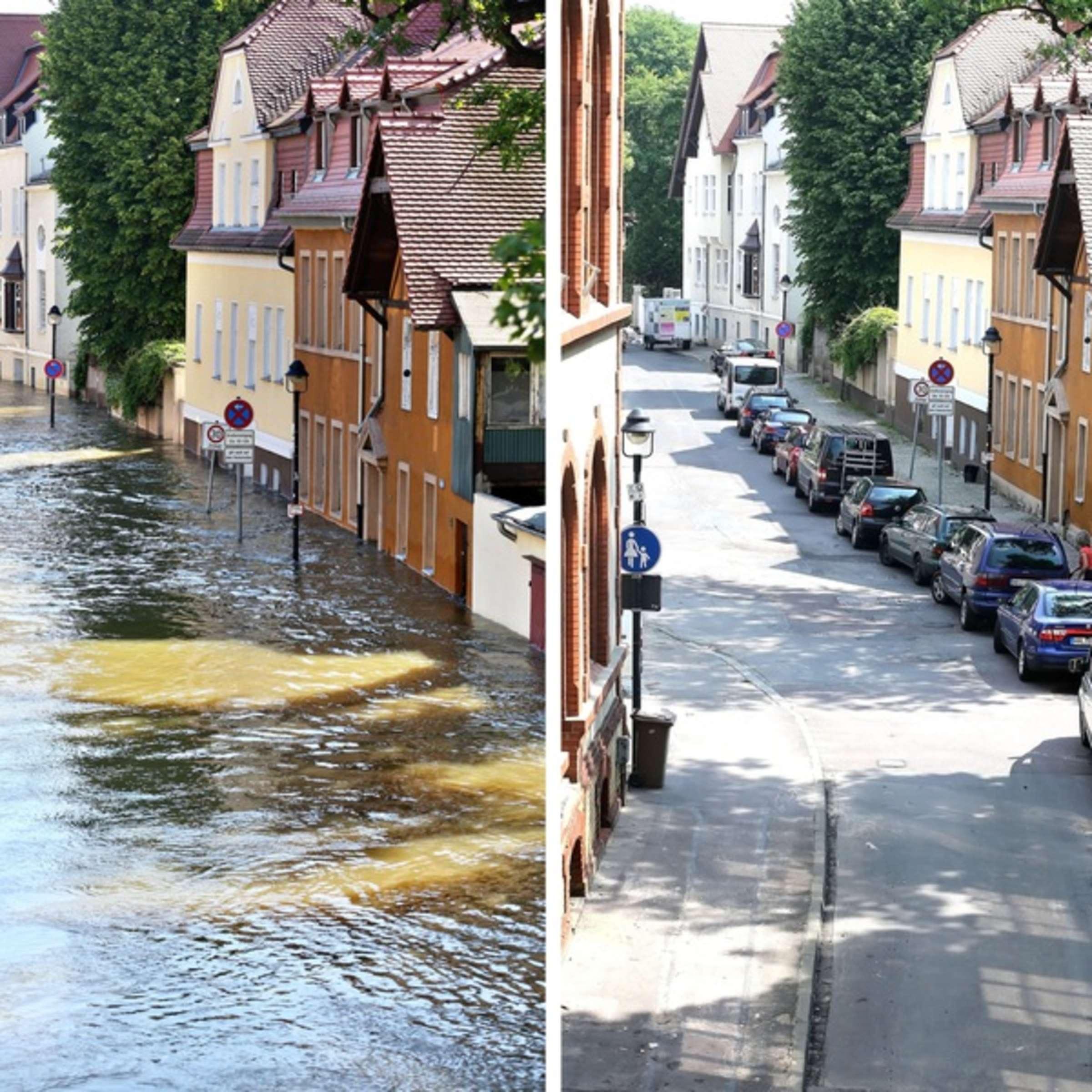 Hochwasser in Deutschland Flut Welle rollt gen Norden ...