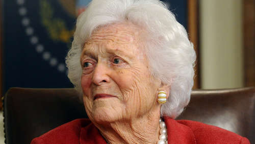Ex-First-Lady Barbara Bush in Klinik