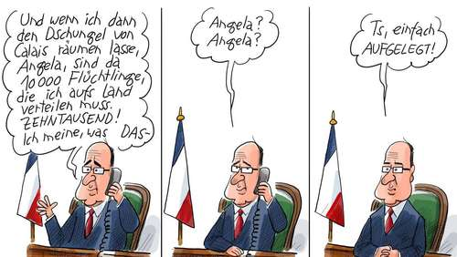 Die Probleme des Monsieur Hollande.