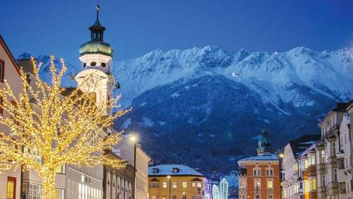 Bergweihnacht in Innsbruck: Andacht beim Advent-Shopping