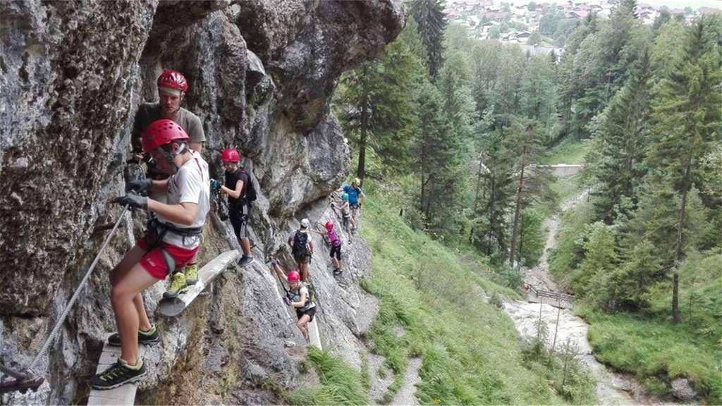 Klettersteig Chiemgau : Ferienkinder bewältigten klettersteig chiemgau