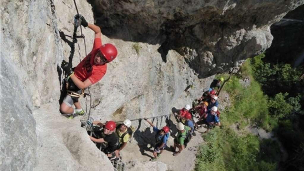 Klettersteig Chiemgau : Mächtig stolz waren die kinder im rahmen des reit winkler