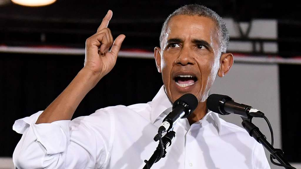 Former President Obama Speaks At Rally For Nevada Democrats In Las Vegas