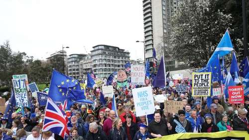 Riesige Anti-Brexit-Demonstration in London