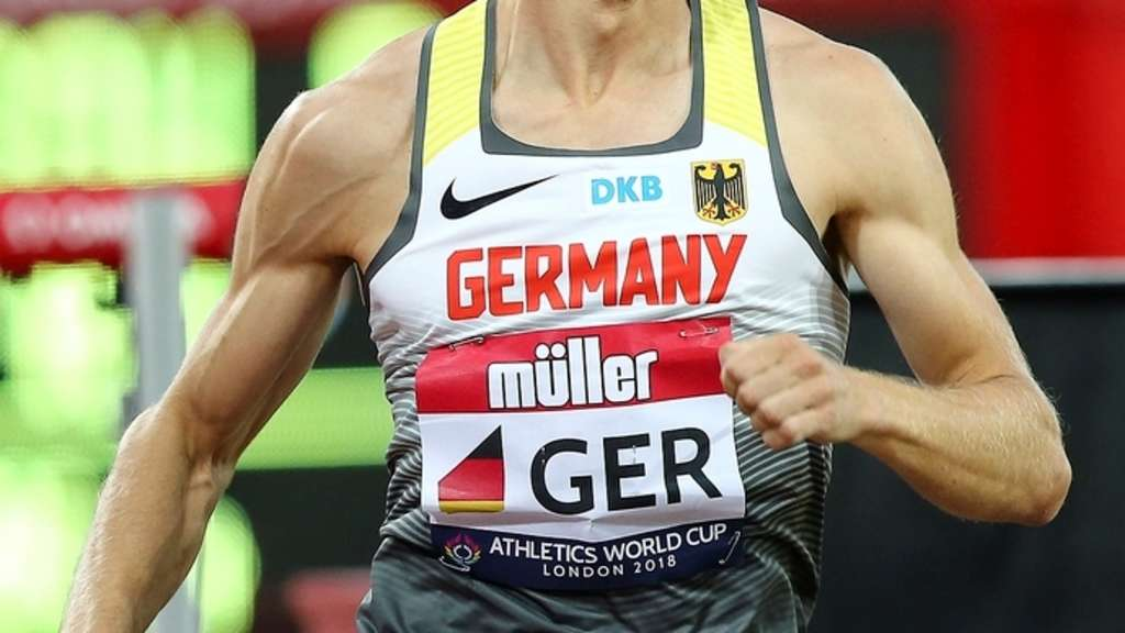 Benedikt Huber beim Athletics World Cup 2018 in London, eines der Highlights in seiner Karriere.